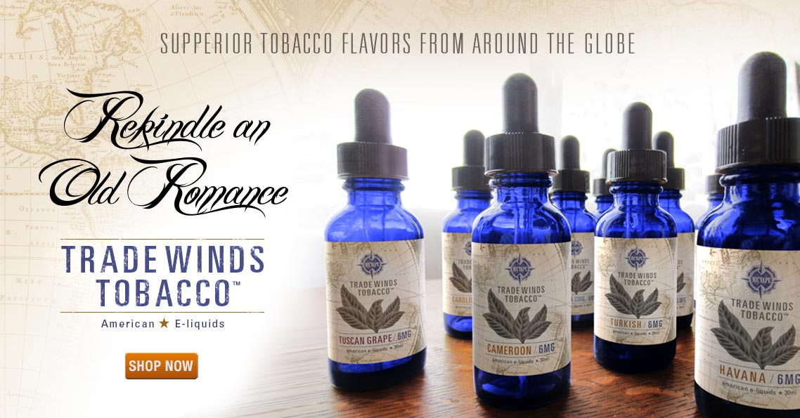 Tradewinds Tobacco Flavored E-liquids