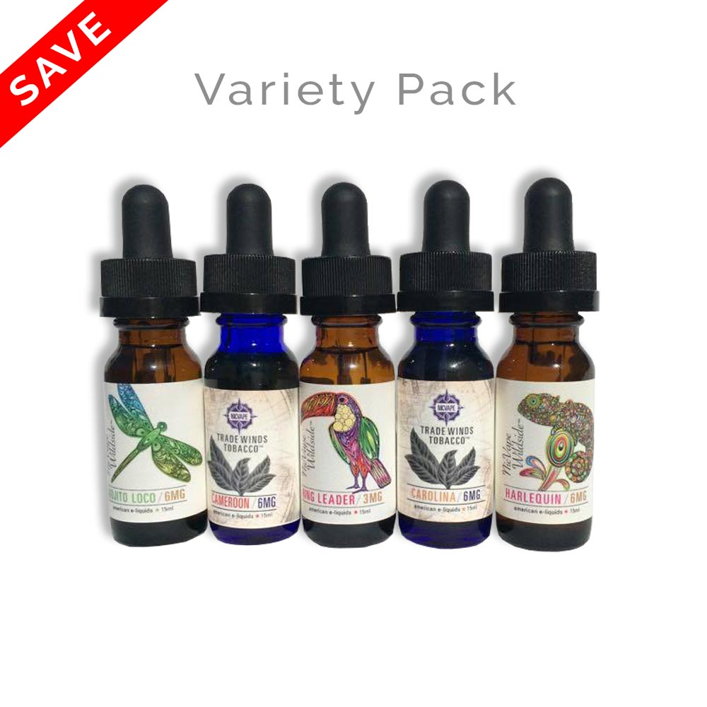 15ml E-Liquid Variety Pack - Wildside and Tradewinds