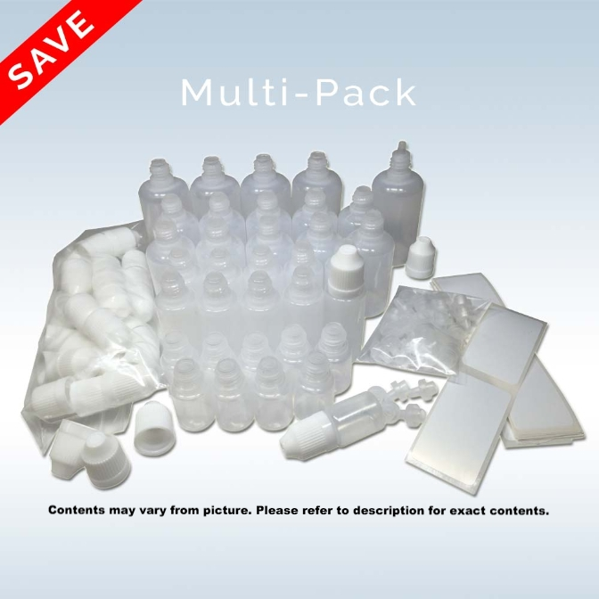 35-Piece Variety Pack of DIY E-Liquid Bottles - LDPE
