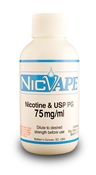 60 ml of 75 mg/ml unflavored nicotine liquid, 60 ml of 75 mg/ml Nicotine, Nicvape Nicotine
