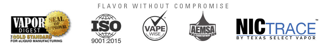 NicVape Seals and Certifications