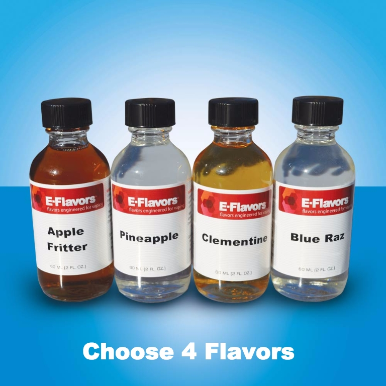 E-Flavors 4 Pack of 60mL E-Liquid Flavor Concentrates