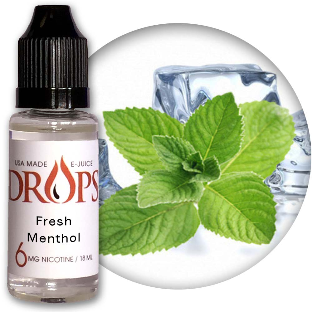 Drops Fresh Menthol E-Juice NicVape, Drops, eliquid, e-liquid, ejuice, e-juice, fresh menthol flavored e-liquid, vape juice, menthol eliquid