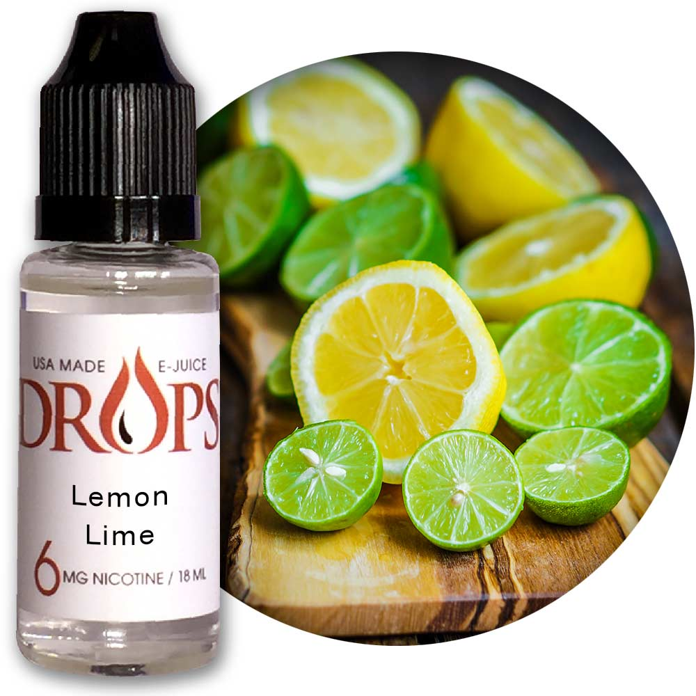 Drops Lemon-Lime E-Juice NicVape, Drops, eliquid, e-liquid, ejuice, e-juice, lemon-lime flavored e-liquid, vape juice, lemon-lime eliquid