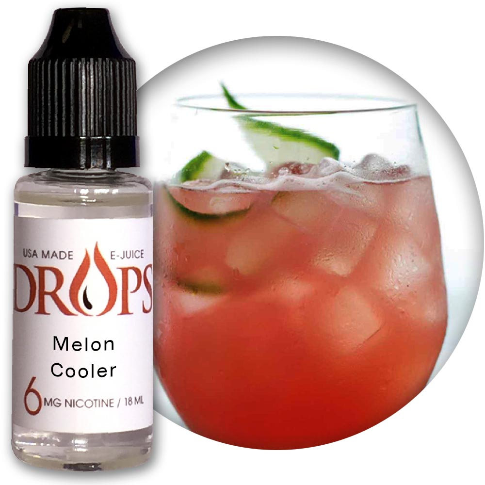 Drops Melon Cooler E-Juice NicVape, Drops, eliquid, e-liquid, ejuice, e-juice, melon cooler flavored e-liquid, vape juice, melon cooler eliquid