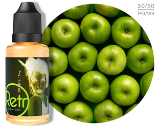 Retro Flapple e-Juice Flapple, Sour Apple, Apple, Retro, e-liquid, nicvape, eliquid, e juice, ejuice, vape, flavor