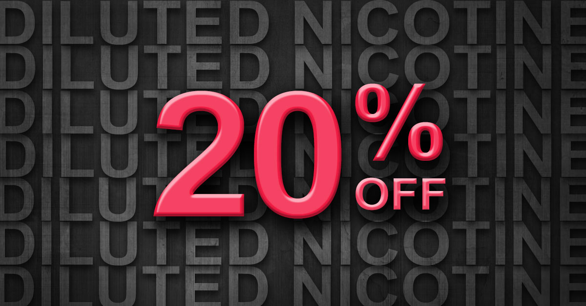 20% Off Diluted Nicotine