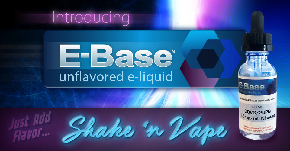 E-Base Unflavored E-Liquid Base - the easiest way to make ejuice